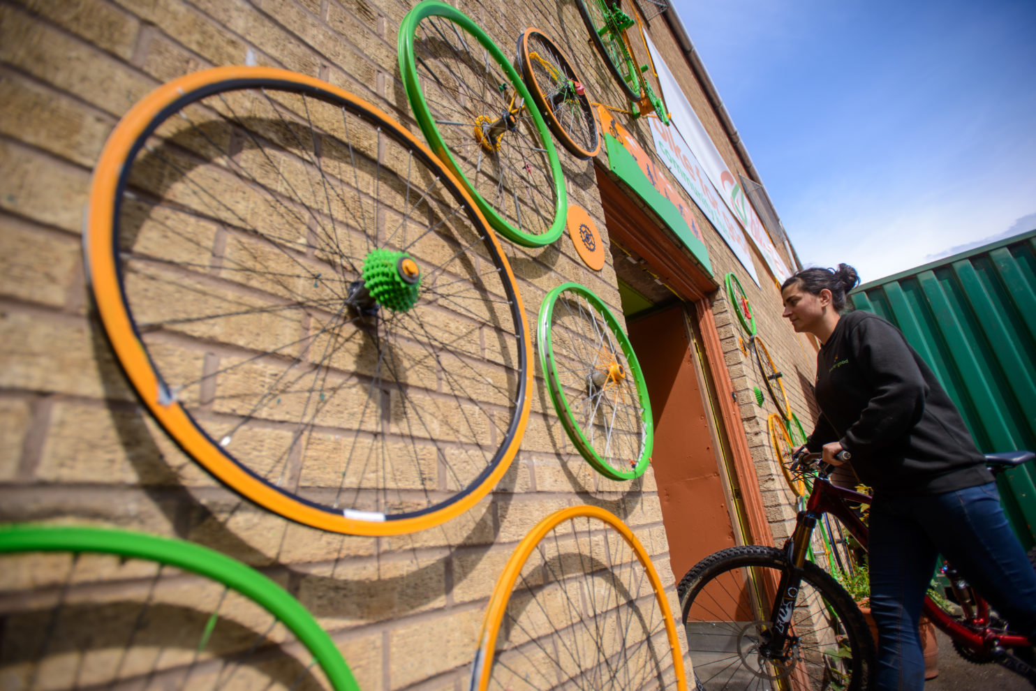 Exterior of the Bike for Good Hub, Govanhill