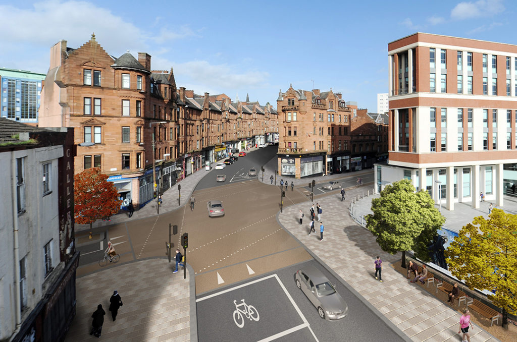 Artists impression of an early concept design for the Duke Street and High Street junction