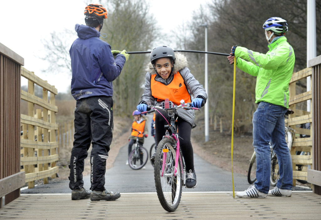 Sustrans STEM Bike ride, Loanhead path Midlothian, ©2018, Sustrans Scotland