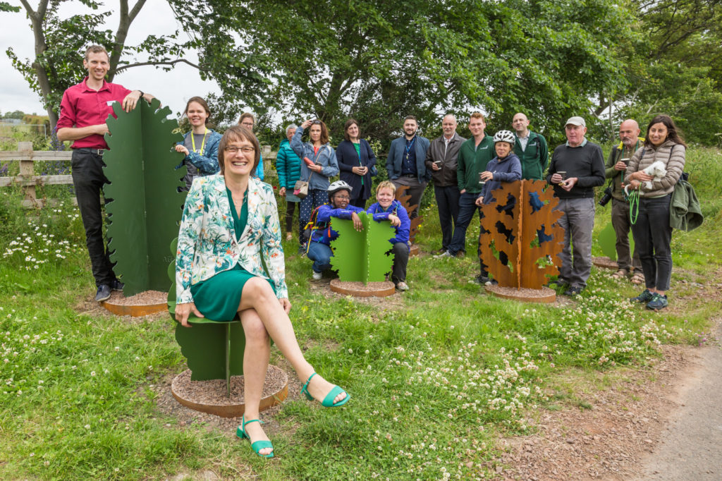 Artwork unveiling, Gilmerton to Shawfair route, Midlothian ©2019, Sustrans Scotland